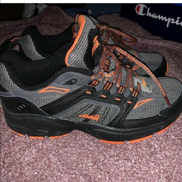 Mens Avia Sneakers Wide Orange Grey